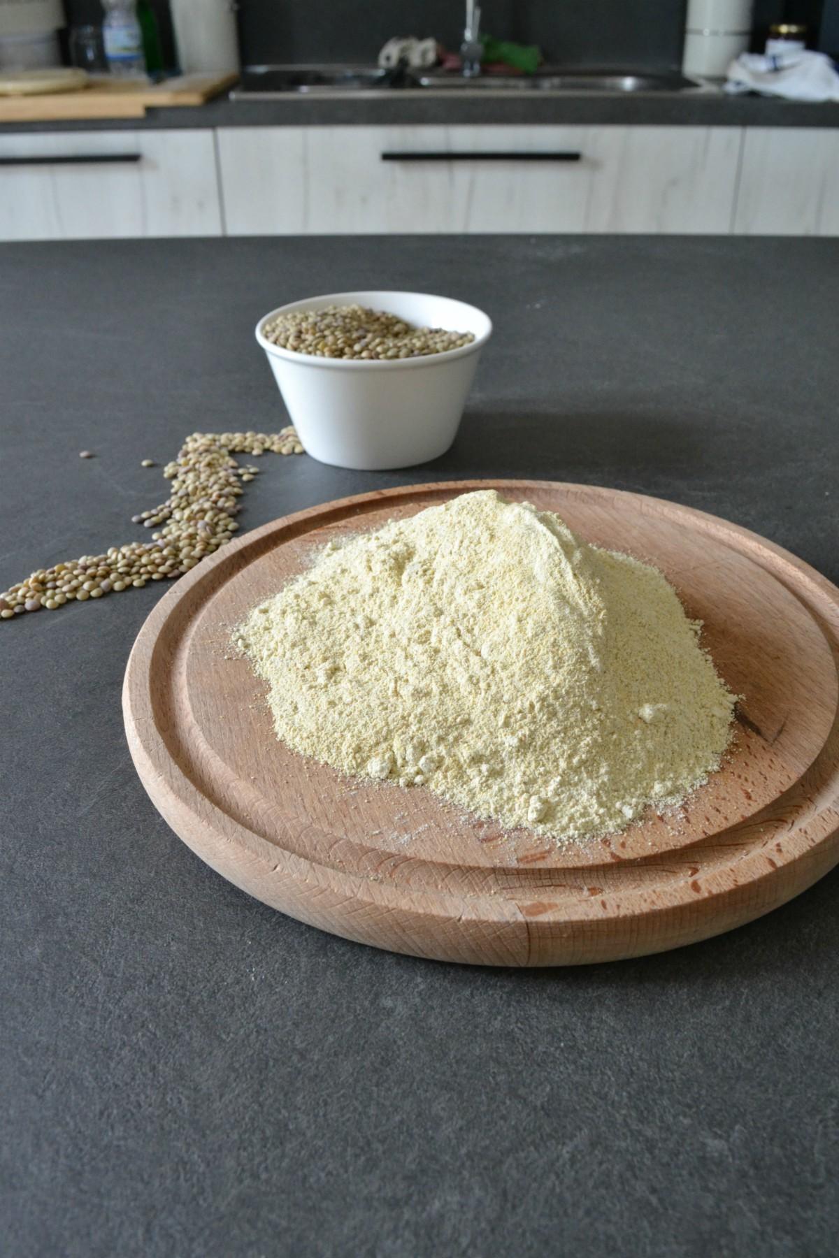 farina di lenticchie fatta in casa blog nella cucina di Martina