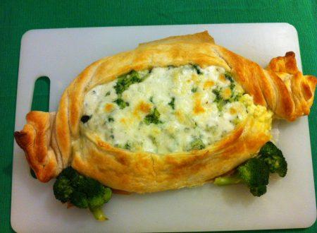 Caramella di broccoli e mozzarella