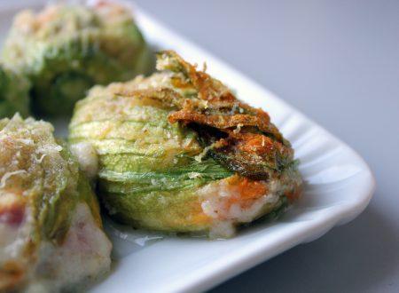 Fiori di zucchine ripieni di mozzarella