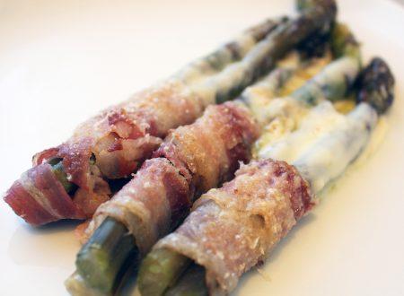 Asparagi gratinati con bacon