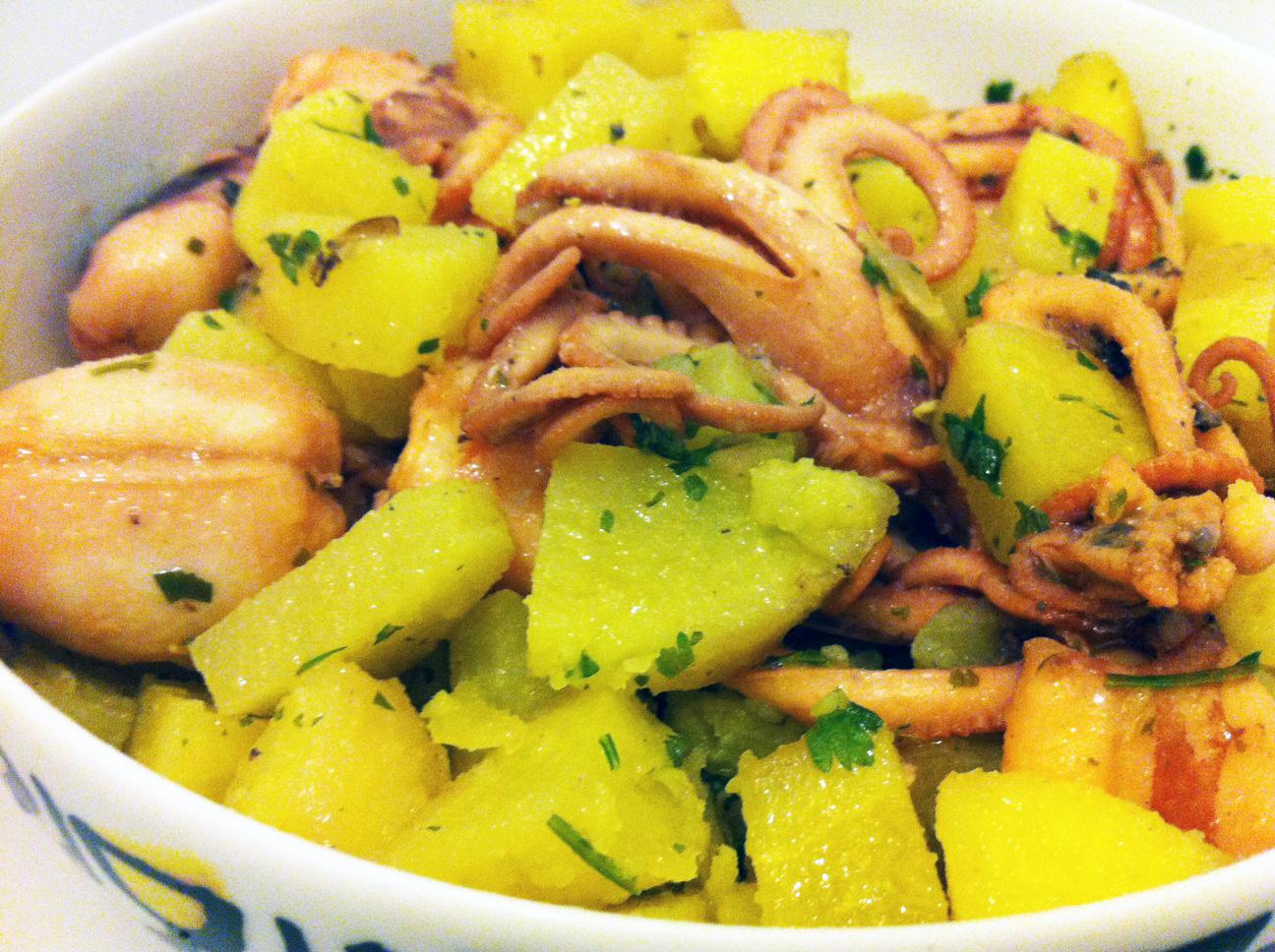 Moscardini con patate cucina mon amour for Cucinare moscardini