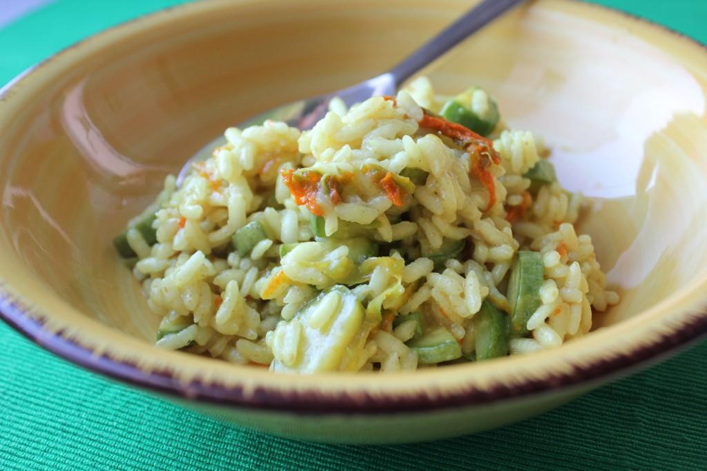 risotto con fiori di zucchine