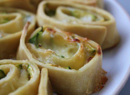 Girelle di pasta matta con zucchine e provola