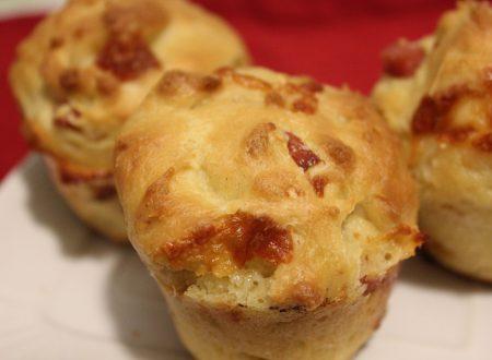 Muffins al prosciutto cotto senza lattosio