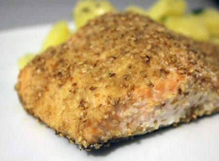 Salmone croccante con sesamo
