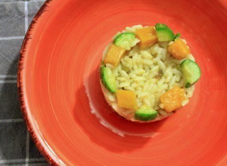 riso leggero con zucca e zucchine
