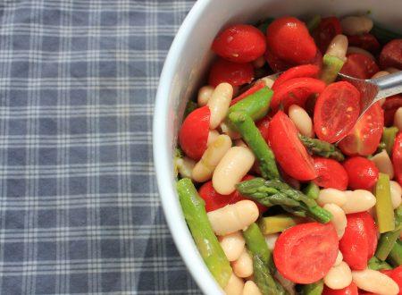 Insalata di asparagi pomodorini e fagioli