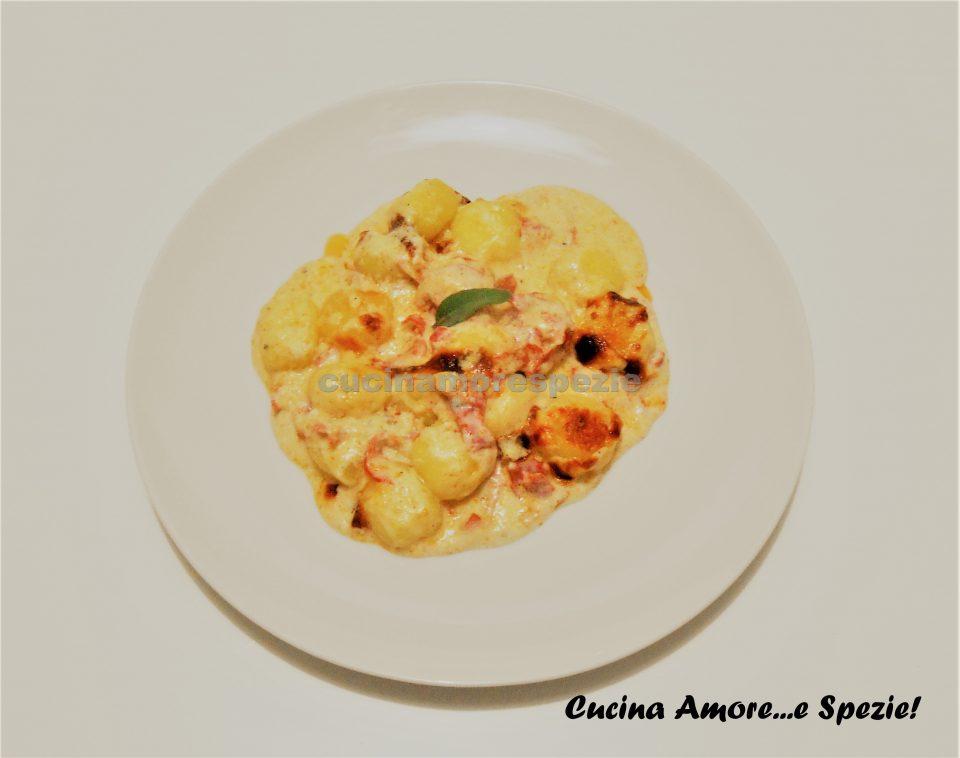 Gnocchi al gorgonzola e salame | Cucina Amore...e Spezie!