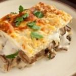 Lasagne con funghi e besciamella