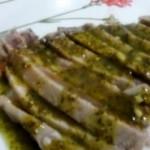 Tonno alla griglia con salsa di pesto