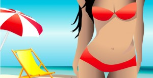 ragazza-in-bikini-in-spiaggia