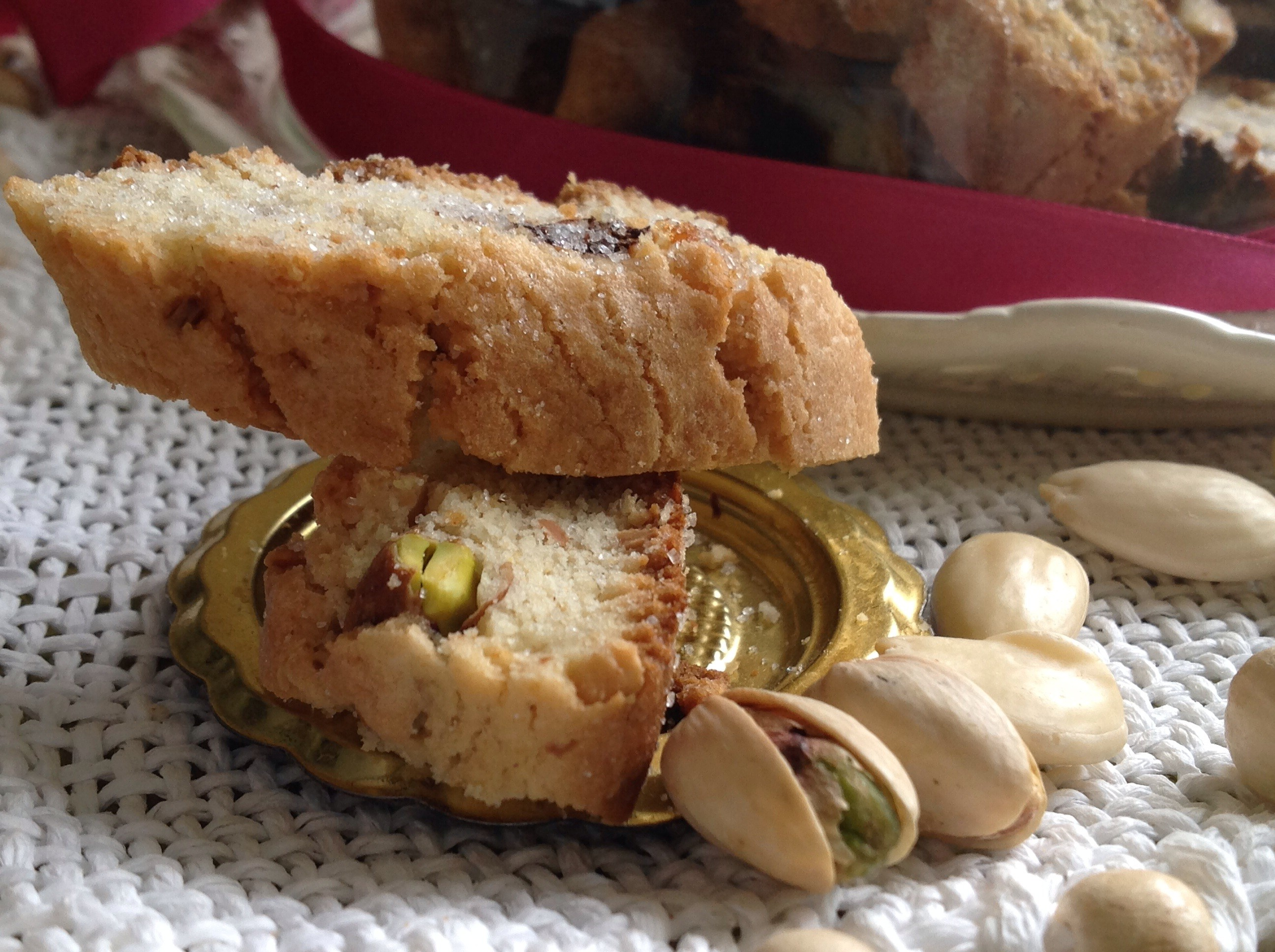 Tozzetti con mandorle e pistacchi