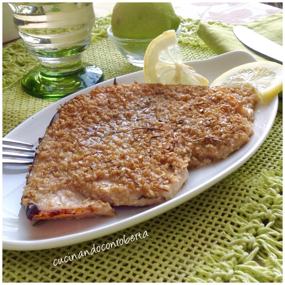 Tranci Di Pesce Spada Al Sesamo Cucinando Con Roberta