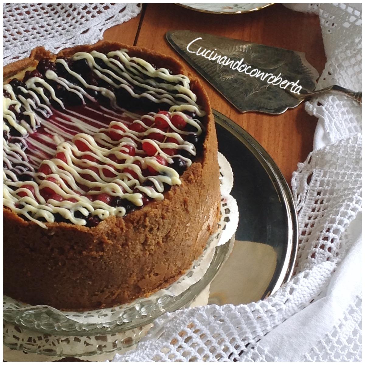 Cheese cake cotta alla crema e frutti rossi