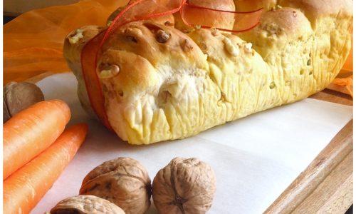 Treccia brioche alle carote e noci