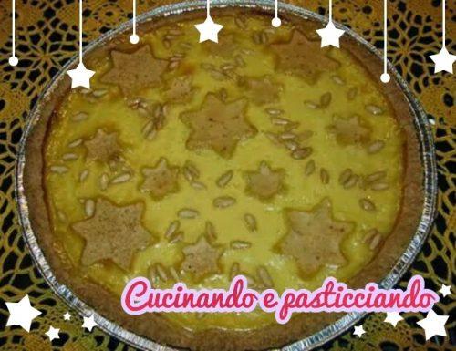 Crostata crema pasticcera e pinoli