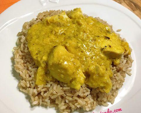 Riso integrale con pollo al curry