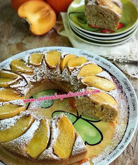 Ciambellone integrale ricotta e cachi mela