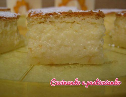 Torta magica cocco e cioccolato bianco