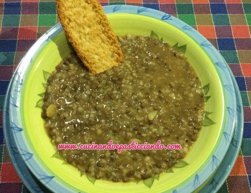 Zuppa cereali e lenticchie