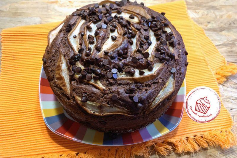 """Torta """"5 minuti"""" cioccolato e pere"""