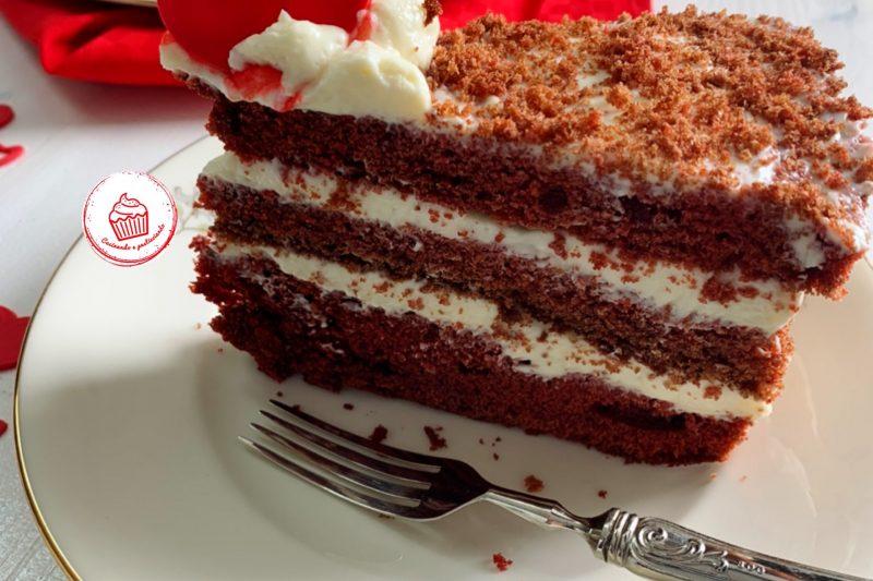 Red Velvet Cream Tart, per la Festa della Mamma❤️