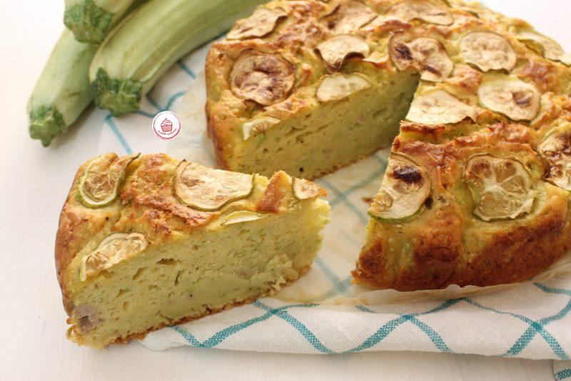 Torta salata soffice di zucchine e tonno