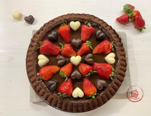 Delizia cioccolato e fragole