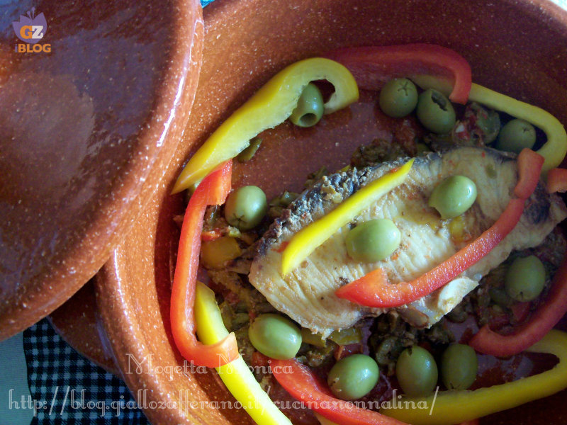 Verdesca peperoni e olive ricetta secondo di pesce