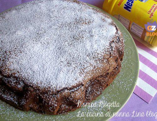 Torta Nesquik ricetta senza latticini