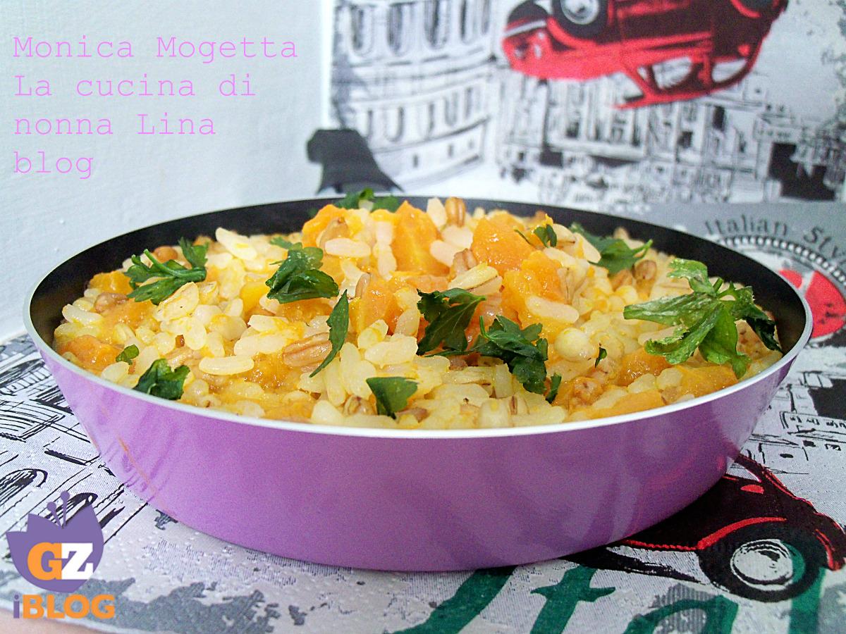 Cereali misti e zucca ricetta primo la cucina di nonna lina - La cucina di monica ...