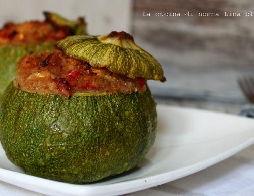 Zucchine tonde ripiene ricetta vegetariana