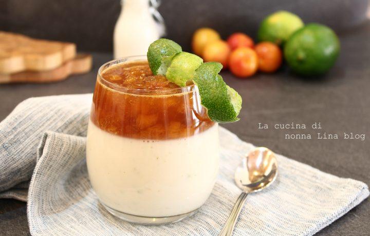 Coppa yogurt susine e lime