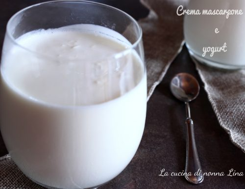 Crema mascarpone e yogurt, ricetta base