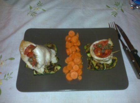 Fagottini di orata con contorno di zucchine
