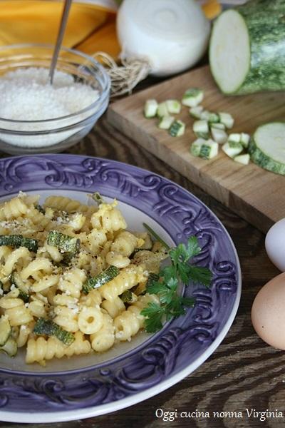 Carbonara vegetariana,Oggi cucina nonna Virginia