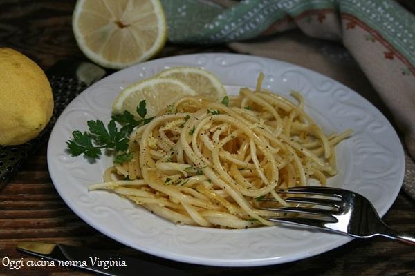 Linguine al limone,Oggi cucina nonna Virginia
