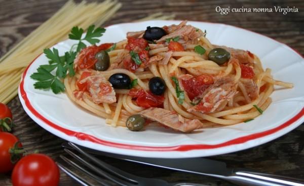 spaghetti tonno e pomodorini,Oggi cucina nonna Virginia
