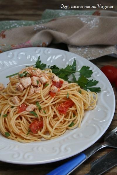 Spaghetti al pesce spada,Oggi cucina nonna Virginia
