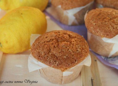 Muffin al limone, ricetta Dolci
