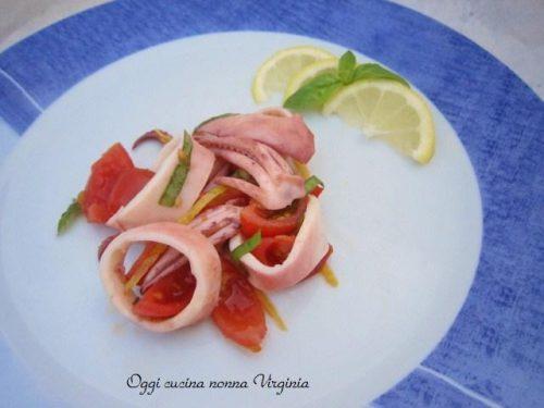 Calamari al limone,ricetta Secondi