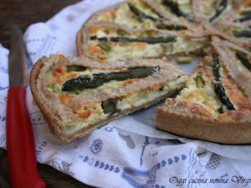 Crostata salata asparagi e ricotta