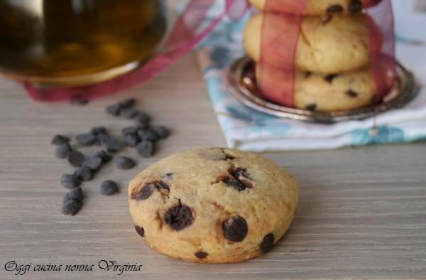 Biscotti senza burro con gocce di cioccolato tutti a tavola con cinzia - Ricette tutti a tavola ...