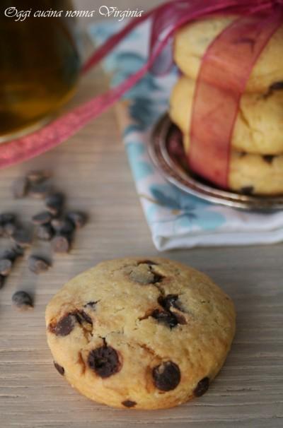 biscotti senza burro e gocce di cioccolato,Oggi cucina nonna Virginia