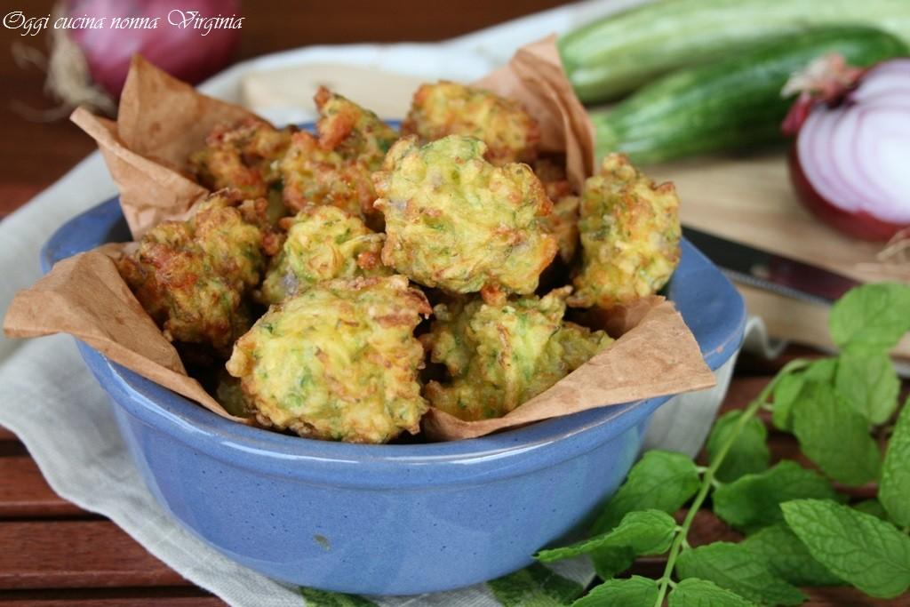 Polpette zucchine e menta,Oggi cucina nonna Virginia