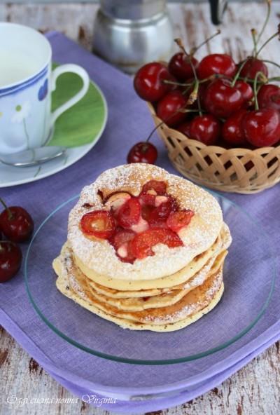 pancake alle ciliegie,Oggi cucina nonna Virginia