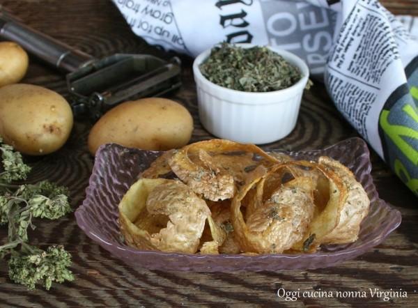 Bucce di patate fritte,Oggi cucina nonna Virginia