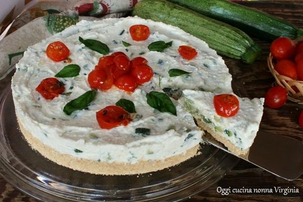 Cheesecake salata zucchine e ricotta,Oggi cucina nonna Virgi..