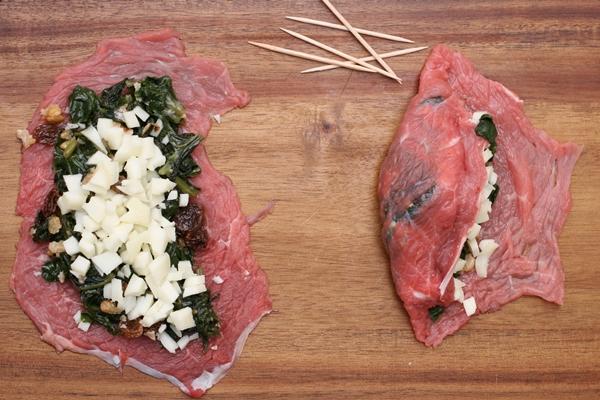 Involtini di vitello e spinaci,Oggi cucina nonna Virginia