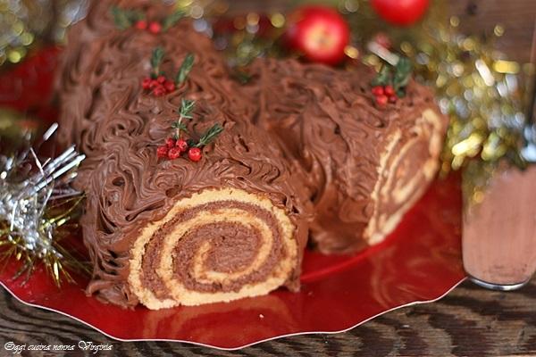Tronchetto di Natale al mascarpone o Buche de Noel